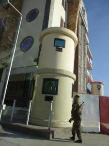 Befestigtes Dostum-Hauptquartier in Scherpur.